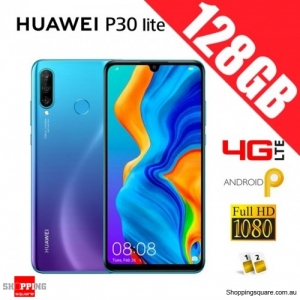 Huawei P30 lite 128GB MAR-LX2 Dual Sim 4G LTE Unlocked Smart Phone Peacock Blue