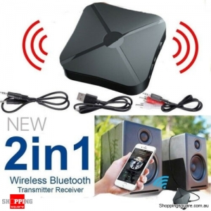 2in1 Wireless Bluetooth Audio Transmitter Car Receiver