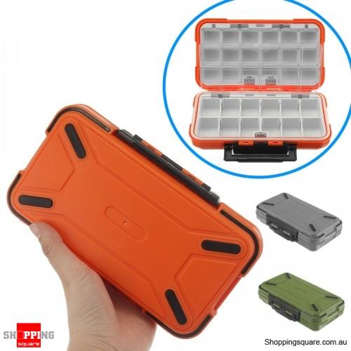 Dual-Layer Portable Plastic Fishing Lure Fish Hook Bait Storage Tackle Box Case Organizer - Orange