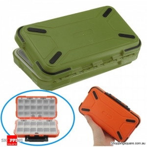 Dual-Layer Portable Plastic Fishing Lure Fish Hook Bait Storage Tackle Box Case Organizer - Green