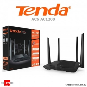 Tenda AC6 AC1200 Smart Dual Band WiFi Router Black