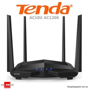 Tenda AC10U AC1200 Smart Dual Band Gigabit WiFi Router Black