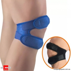 Adjustable Elastic Knee Support Pad Outdoor Sports Fitness Knee Exercise Protector - Blue