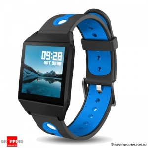 1.3 IPS GPS Smart Watch Waterproof Heart Rate  Smart Bracelet - Blue