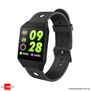 1.3 IPS GPS Smart Watch Waterproof Heart Rate  Smart Bracelet - Black