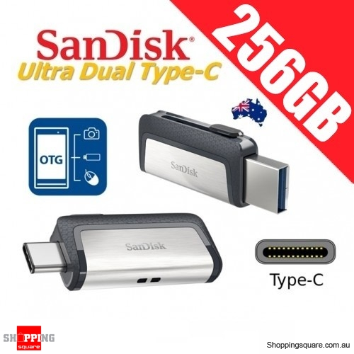 SanDisk Ultra Dual Drive 256GB USB Type-C USB 3.1 Smartphone Tablet PC 150MB/s