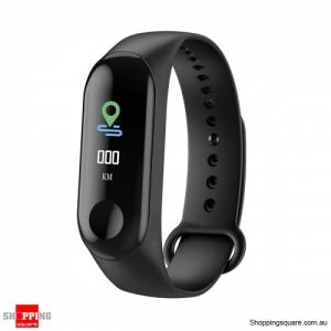 0.96 inch Full Screen Blood Pressure Oxygen Monitor IP68 Long Standby Smart Watch - Black