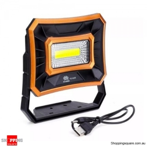 50W Solar LED COB USB Work Light IP65 Waterproof Floodlight Spotlight Outdoor Camping Emergency Lantern - Orange