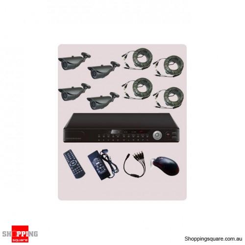 4 Channel DVR CCTV Surveillance Camera Combo Kit KT42-VT20S42