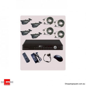 4 Channel DVR CCTV Surveillance Camera Combo Kit KT42-VT20S42