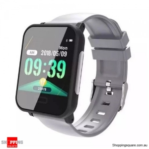 1.3' Health Monitor IP67 Waterproof Long Standby Strap Sport Smart Watch - Gray