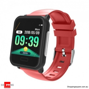 1.3' Health Monitor IP67 Waterproof Long Standby Strap Sport Smart Watch - Red