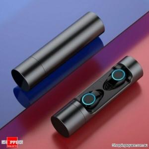 Bluetooth 5.0 Wireless Headset Headphones Sport Waterproof Earbuds Earphone Black Colour
