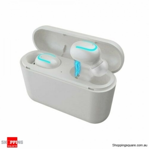 Mini TWS True Wireless In-Ear 3D Stereo Bluetooth V5.0 Earphones Earbuds Headset White Colour