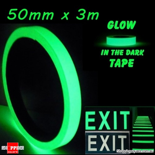 50mm x 3m Luminous Tape Self-adhesive Emergency Signs Glowing In The Dark Safety Stage Home Decor