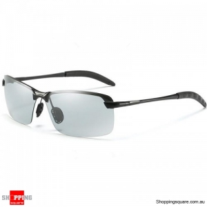 Day And Night Discolor Polarized Sunglasses Driving All-Weather Glasses - Gray