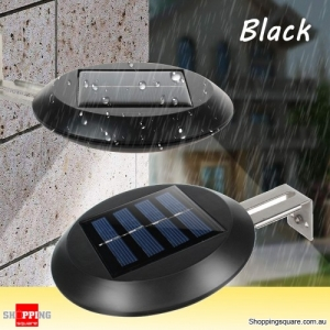 9 LED 100lm Solar Rechargeable Wireless Waterproof Garden Courtyard Wall Light - Black