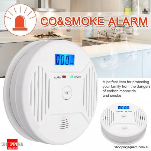 Digital LCD CO Carbon Monoxide Smoke Detector Alarm Poisoning Gas Warning Sensor