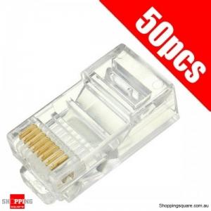 50PCS RJ45 Plug Ethernet Gold Plated Network Connector