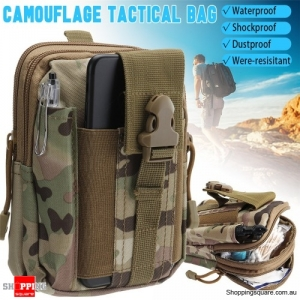 Waterproof Nylon Military Tactical Molle Waist Pack Utility Pouch Pocket Bag
