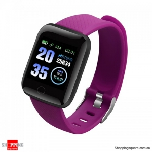 Large Touch Screen HR Monitor Sport Smart Watch - Purple