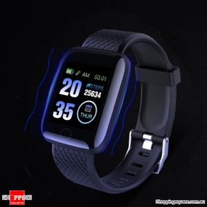 Large Touch Screen HR Monitor Sport Smart Watch - Blue