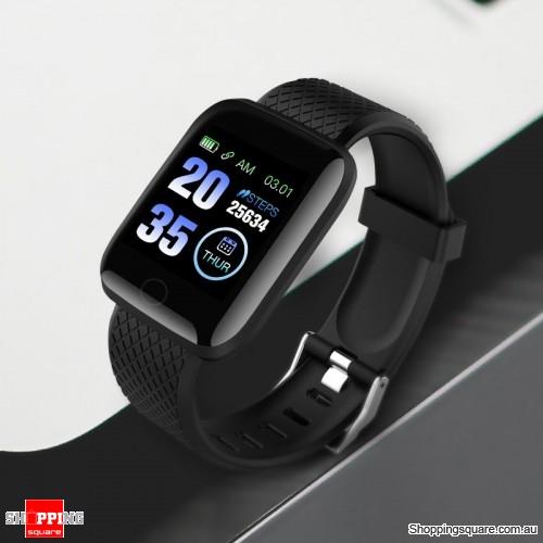 Bakeey 116N USB Charging Heart Rate Blood Pressure Monitor Multi-sport  Modes Smart Watch-Black - Shoppingsquare Australia