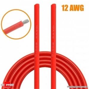 5M Red Silicone Wire Cable Flexible Cable DIY Tool - 12AWG