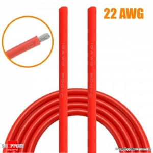 5M Red Silicone Wire Cable Flexible Cable DIY Tool - 22AWG
