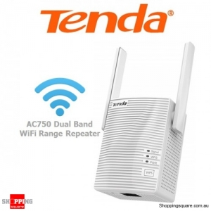 Tenda A15 AC750 Dual Band WiFi Range Extender Repeater White