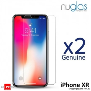 2x NUGLAS 2.5D Clear Tempered Glass Screen Protector for iPhone XR