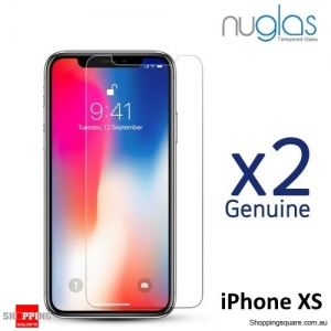 2x NUGLAS 2.5D Clear Tempered Glass Screen Protector for iPhone XS