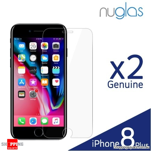 2x NUGLAS 2.5D Clear Tempered Glass Screen Protector for iPhone 8 Plus