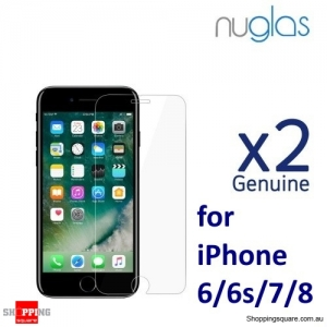 2x NUGLAS 2.5D Clear Tempered Glass Screen Protector for iPhone SE(2020) 6/6S/7/8