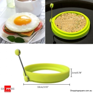 Omelette Maker Mold Round Shape Silicone Nonstick Frying Egg Mould Shape Ring Pancake Rings Mold-Green