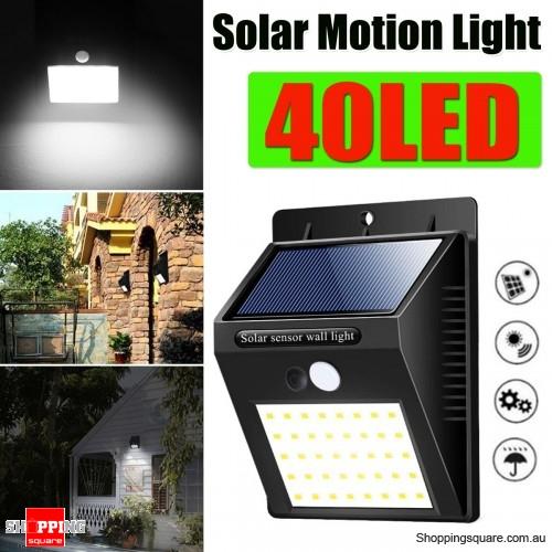 40 LED Solar Power Light PIR Motion Sensor Security Outdoor Garden Waterproof Wall Lamp