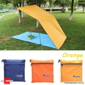 Portable 250x150CM Camping Tent Sunshade Outdoor Waterproof Shelter Tentage - Orange