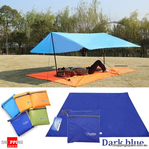 Portable 250x150CM Camping Tent Sunshade Outdoor Waterproof Shelter Tentage - Dark Blue