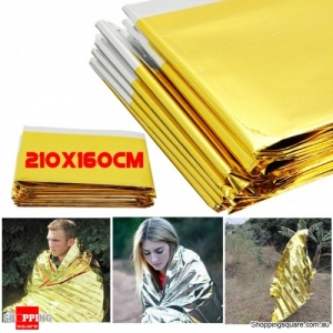 Reusable Waterproof Survival Emergency Blanket Curtain Camp Tent Foil Thermal Blanket