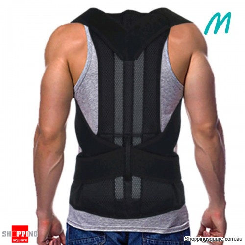 Adjustable Back Belt Back Posture Corrector Shoulder Spine Support Back Protector - M