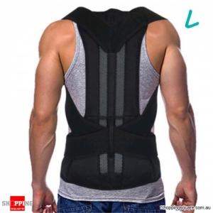 Adjustable Back Belt Back Posture Corrector Shoulder Spine Support Back Protector - L