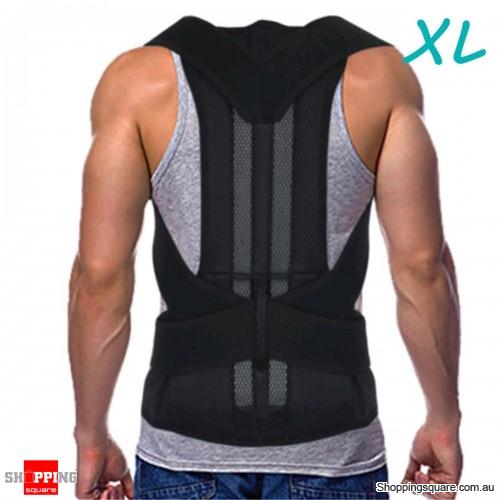 Adjustable Back Belt Back Posture Corrector Shoulder Spine Support Back Protector - XL