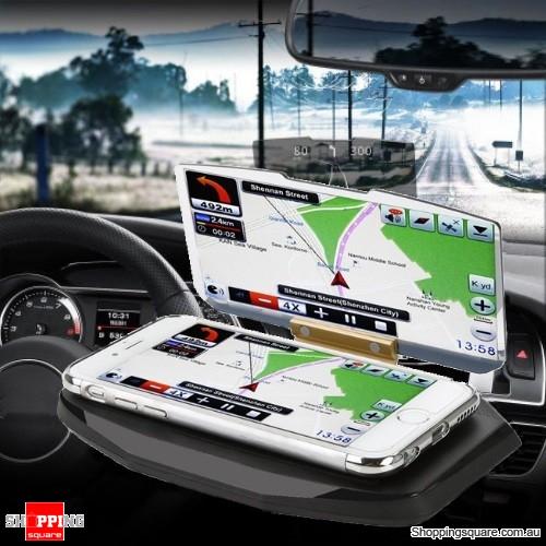 HUD Head Up Display Car Cell Phone GPS Navigation Image Reflector Holder Mount