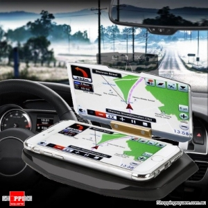 HUD Head Up Display Car Cell Phone GPS Navigation Image Reflector Holder Mount