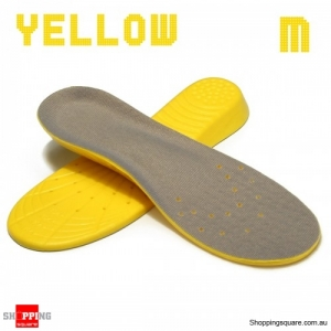 Shoe Insoles Orthotic Insole Arch Support Memory Foam Insoles Shock Feet Relief - Yellow M