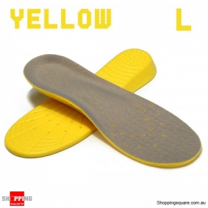 Shoe Insoles Orthotic Insole Arch Support Memory Foam Insoles Shock Feet Relief - Yellow L