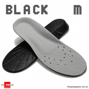 Shoe Insoles Orthotic Insole Arch Support Memory Foam Insoles Shock Feet Relief - Black M