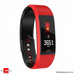0.96'' Color Screen IP68 Waterproof Smart Watch Sports Bracelet - Red