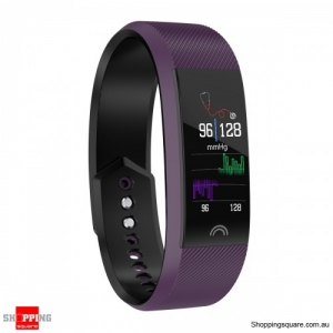 0.96'' Color Screen IP68 Waterproof Smart Watch Sports Bracelet - Purple