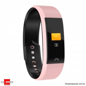 0.96'' Color Screen IP68 Waterproof Smart Watch Sports Bracelet - Pink